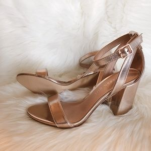 NEW Rose Gold Binky Style Strappy Sandals Formal